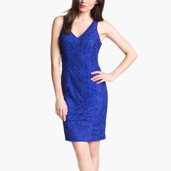 SUE WONG Back Cutout Soutache Sapphire 12 #166 Dresses & Skirts - SUE WONG Back Cutout Soutache Sapphire 12 #166